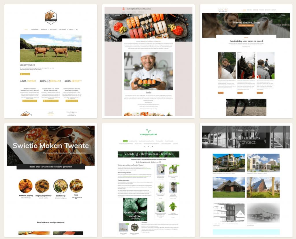 JouwWeb website voorbeelden